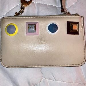 Fendi monster wallet:coin purse with chain!
